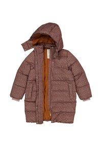 Wheat - Winter coat - powder plum dots - 2