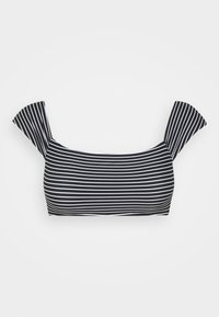 Seafolly - COLD SHOULDER BANDEAU - Bikini top - black/white - 5