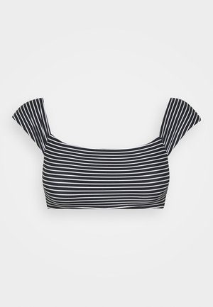 COLD SHOULDER BANDEAU - Bikini top - black/white
