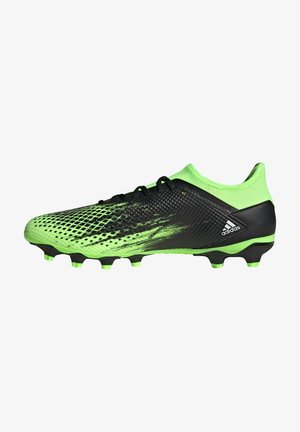 Moulded stud football boots - signal green / footwear white / core black