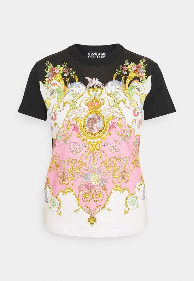 LADY - T-shirt med print - black/pink