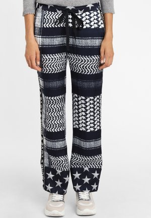 MIT GALONSTREIFEN - Pantaloni - black