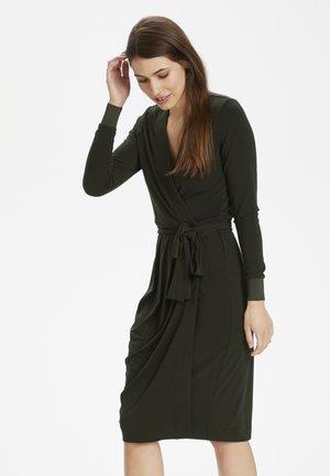 DRESS - Jerseyjurk - olive leaf