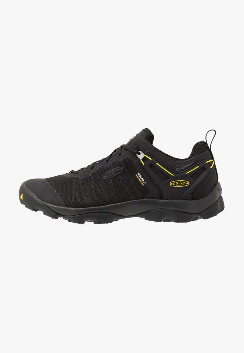 Keen - VENTURE WP - Hiking shoes - black/yellow