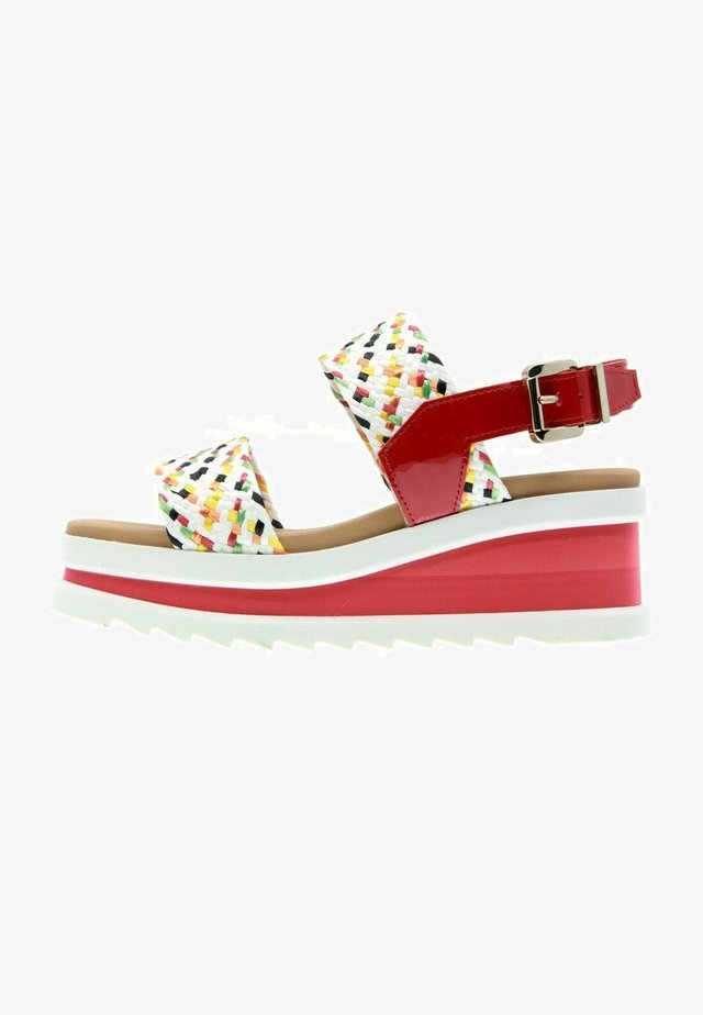 SKY - Wedge sandals - red