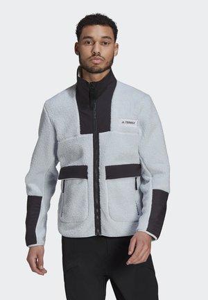 Fleece jacket - black/crew navy/scarlet