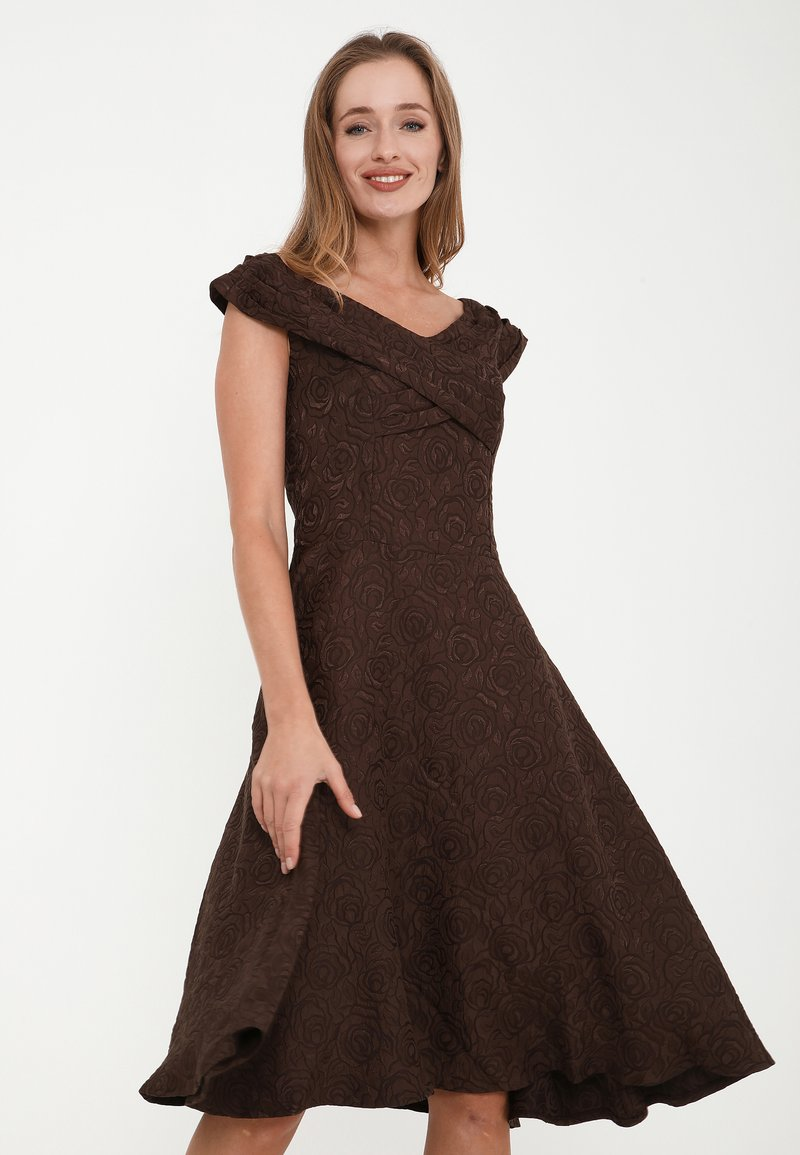Madam-T - Cocktail dress / Party dress - braun