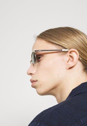 UNISEX - Sunglasses - white/gold-coloured