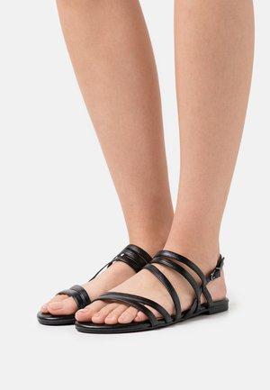 Sandals - black metallic