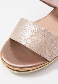 Jana - Platform sandals - rose/gold - 6
