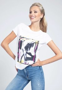 Guess - MONIA - Print T-shirt - weiß - 0