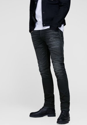 GLENN ROYAL - Slim fit jeans - black denim
