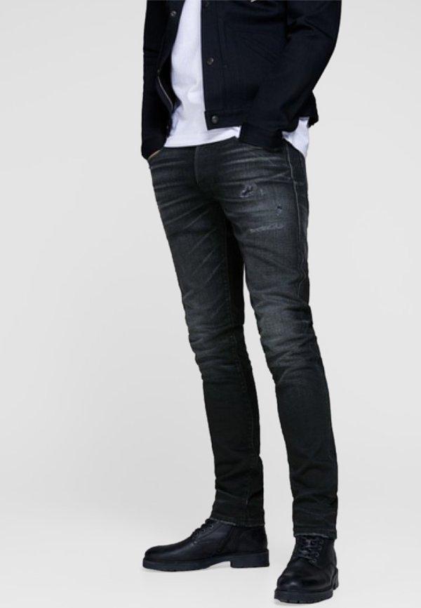 Jack & Jones GLENN ROYAL - Jeansy Slim Fit - black denim/czarny denim Odzież Męska TKZR