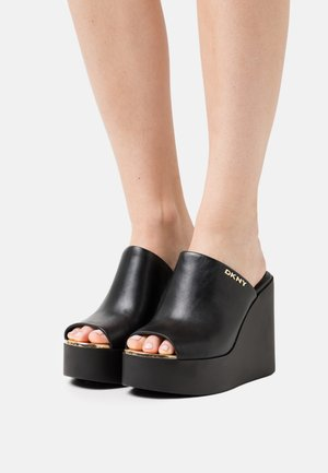 PEN - Heeled mules - black