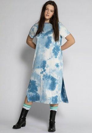 Jersey dress - taubenblau
