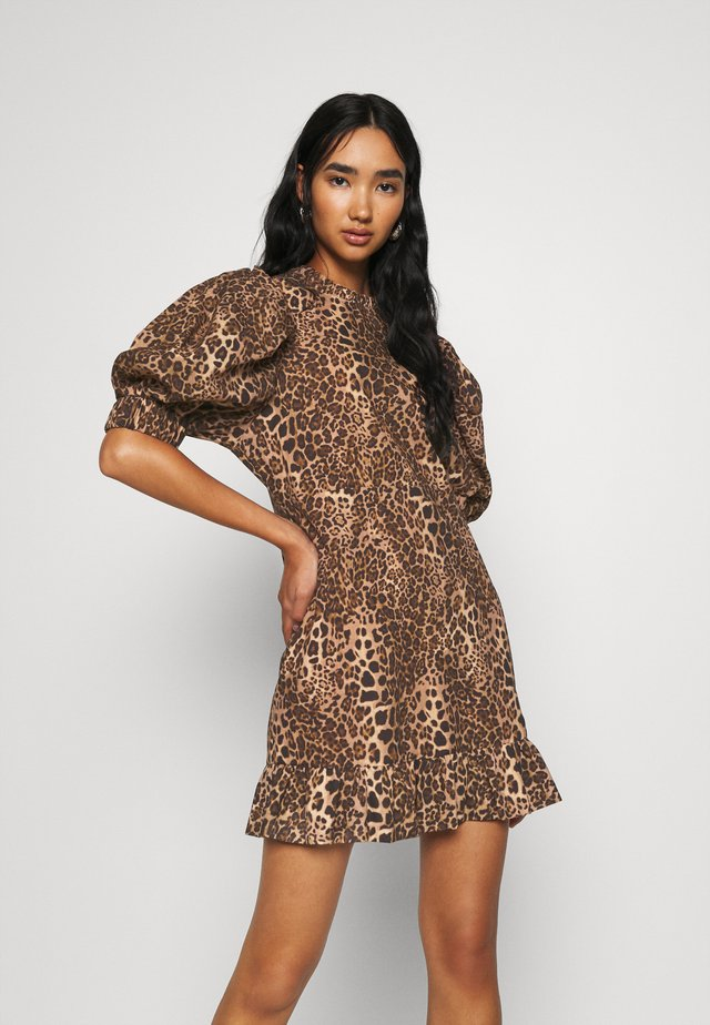 PUFF MINI DRESS - Robe d'été - brown