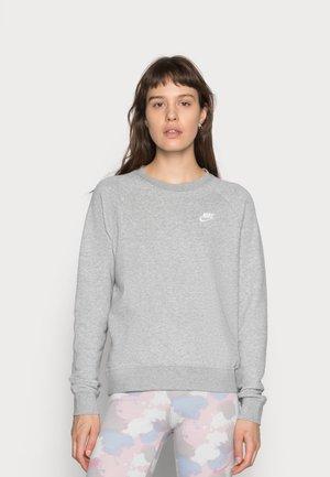 CREW - Sweatshirt - grey heather/white