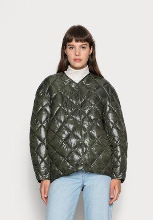 Lett jakke - khaki green