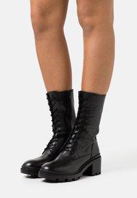 Zign - Šněrovací vysoké boty - black - 0