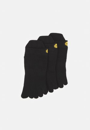 NO SHOW 3 PACK UNISEX - Trainer socks - black