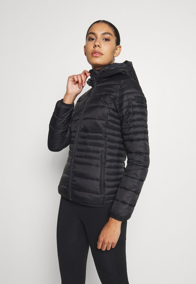 WOMAN JACKET SNAPS HOOD - Winterjas - nero