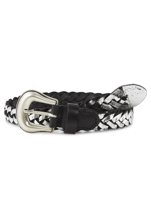 Braided belt - black-silver