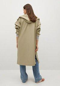 Mango - Classic coat - kaki - 2