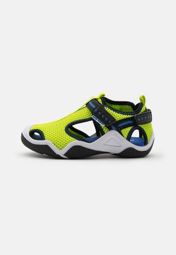 WADER - Walking sandals - lime/electric blue
