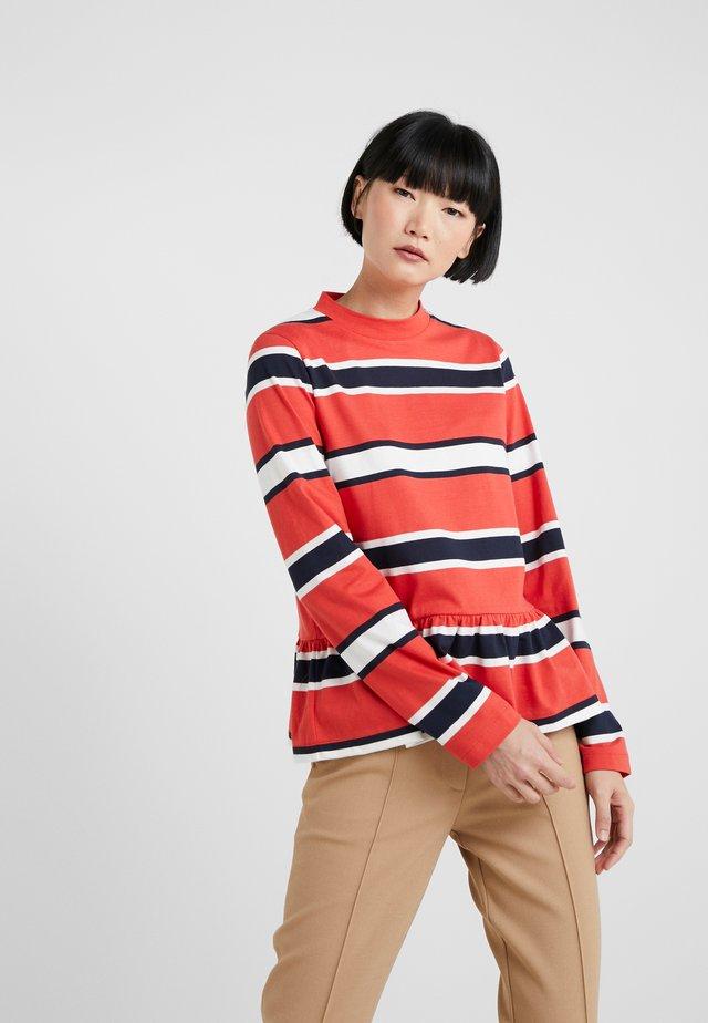 WAKE - Maglietta a manica lunga - red stripe