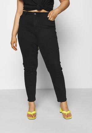 PCKESIA MOM  - Slim fit jeans - black denim