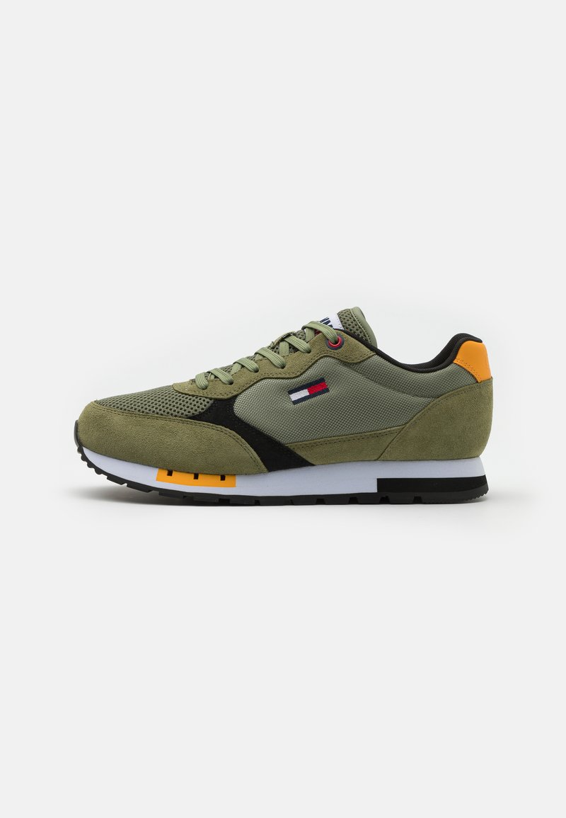 Tommy Jeans - RETRO RUNNER MIX - Sneakers basse - clean green
