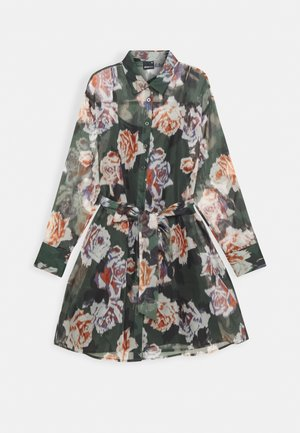 LIZA DRESS - Shirt dress - green/rose