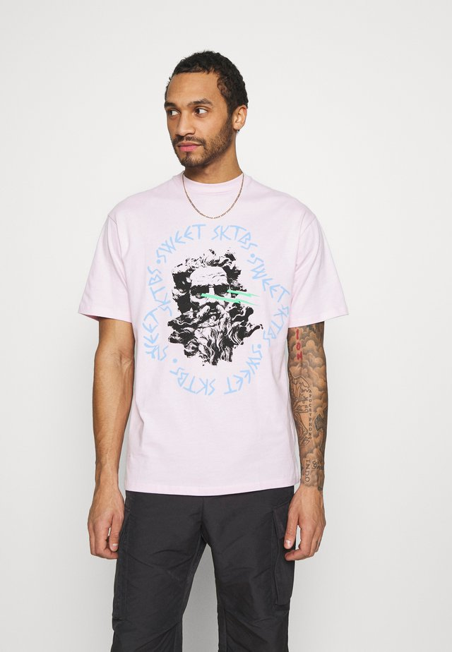SWEET 90S LOOSE TEE UNISEX  - Print T-shirt - light pink
