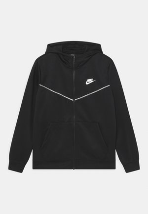 REPEAT HOODIE - Training jacket - black/white