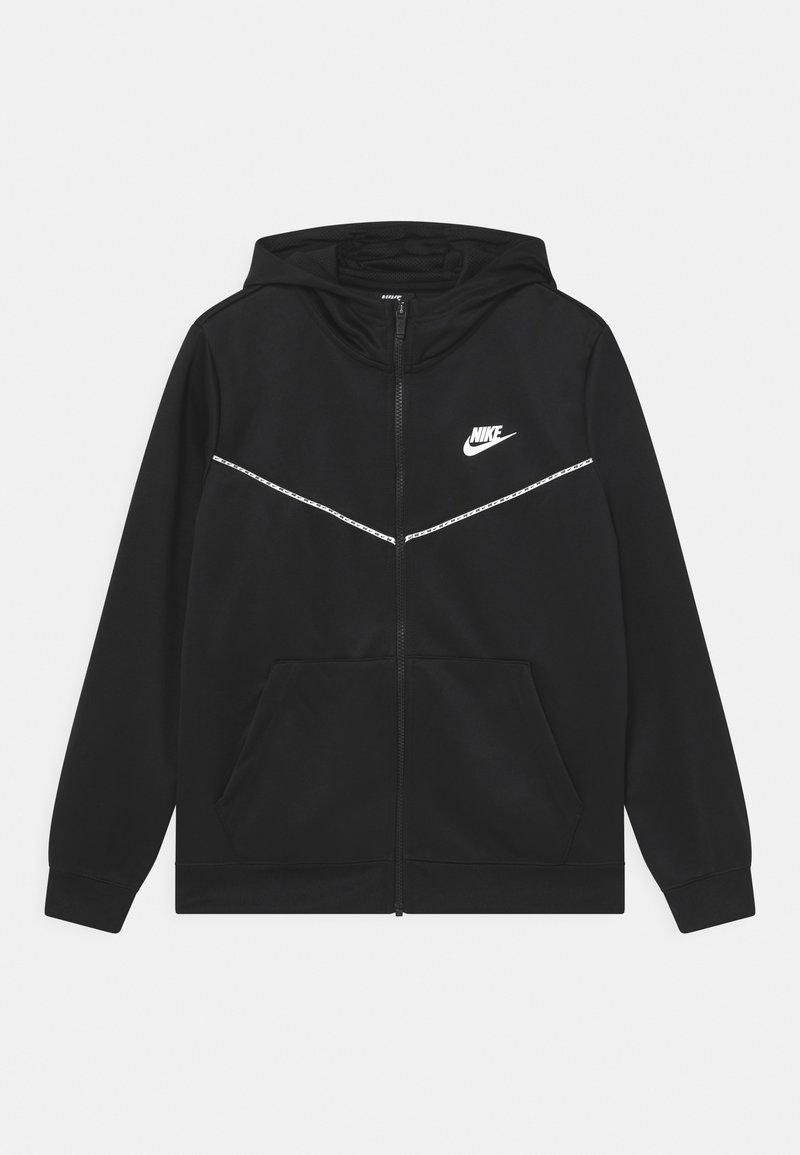 Nike Sportswear - REPEAT HOODIE - Training jacket - black/white