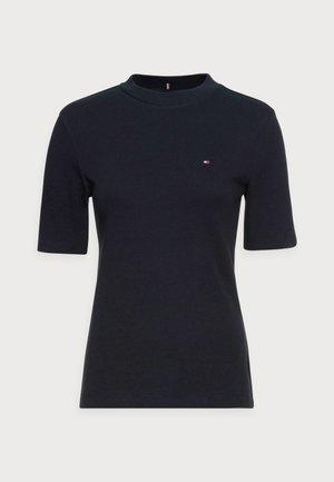 SLIM TOP - Jednoduché triko - blue