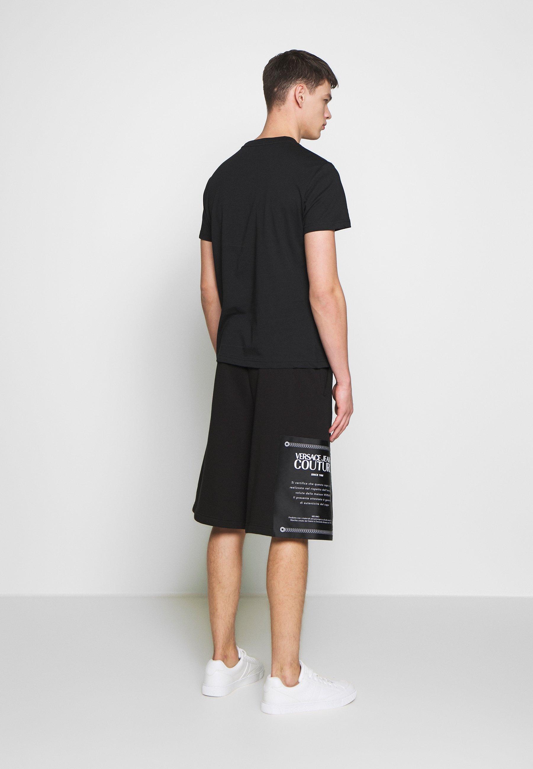 Versace Jeans Couture BASIC LOGO - T-shirt imprimé - black