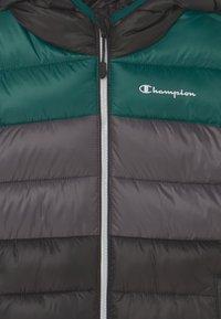 Champion - COLOR BLOCK JACKET UNISEX - Winter jacket - black/green/dark grey - 2