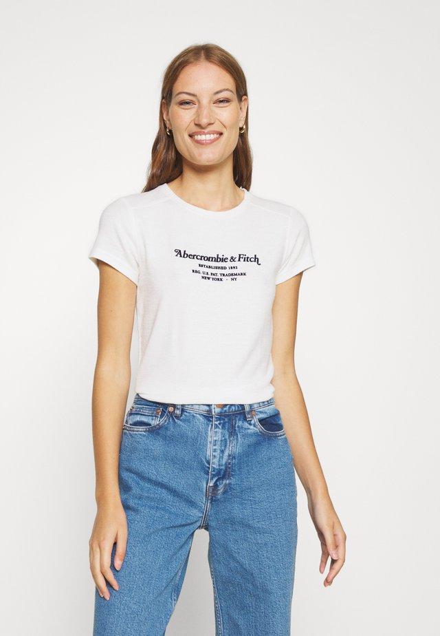 LONG LIFE LOGO - T-shirt print - white