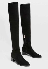Stradivarius - Over-the-knee boots - black - 2