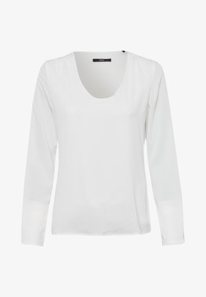 MIT TRANSPARENTEN ÄRMELN - Long sleeved top - offwhite