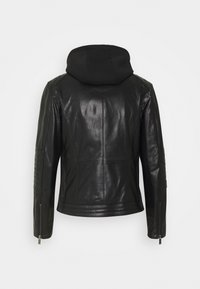 KARL LAGERFELD - BIKER JACKET - Leather jacket - black