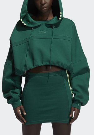 Ivy Park Hooded Cut Out Dress - Day dress - darkgreen