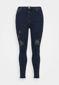Glamorous Curve - RIPPED WREN - Jeans Skinny Fit - dark blue rinse - 4