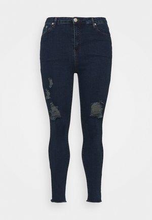 RIPPED WREN - Jeans Skinny Fit - dark blue rinse