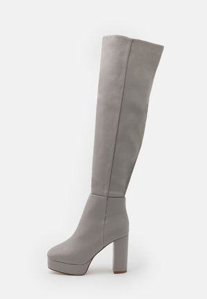 WIDE FIT CAROLINA - Over-the-knee boots - grey