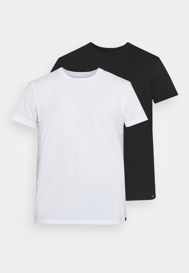 TWIN CREW 2 PACK - T-shirt basique - black/white
