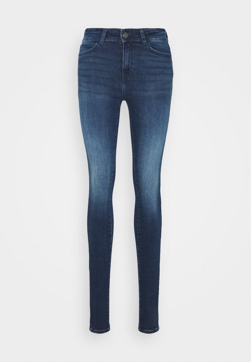 Noisy May Tall - NMLUCY - Jeansy Skinny Fit - dark blue denim