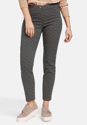 Trousers - dark navy/off white/vivid blue