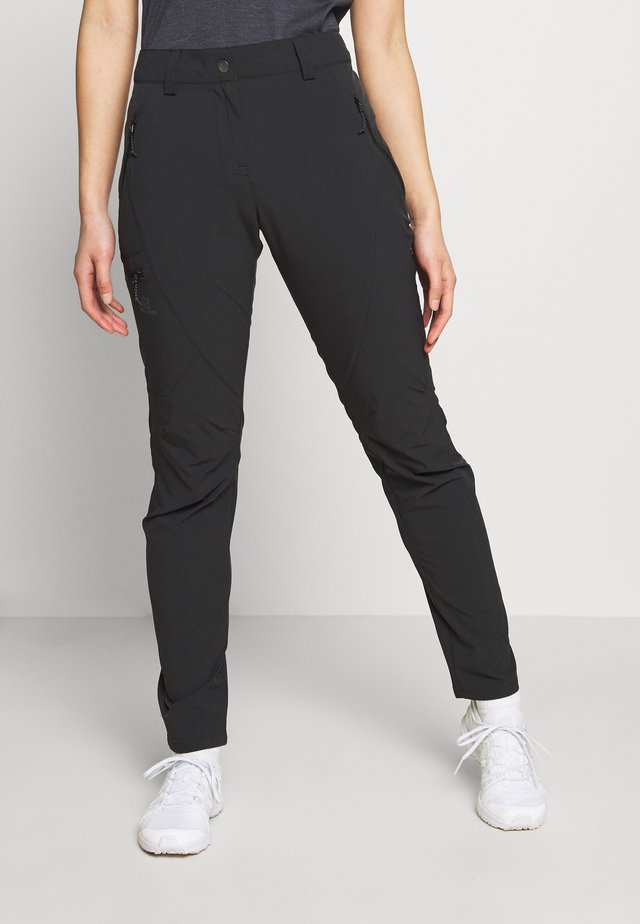 WAYFARER TAPERED PANT - Ulkohousut - black